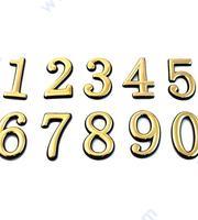 Лепящи цифри за врати - златни
