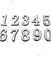 Лепящи цифри за врати - хром