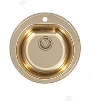 Кухненска кръгла мивка в цвят БРОНЗ