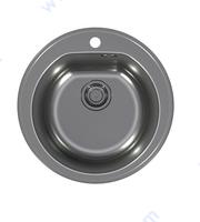 Кухненска кръгла мивка антрацит
