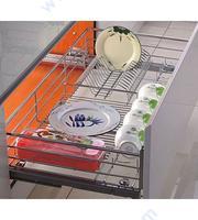 Механизъм за подрежданена чинии и чаши за вграждане в долен шкаф
