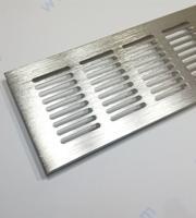 Вентилационна решетка за вграждане - драскан инокс.