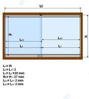 Система за плъзгащи стъклени врати.