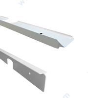 Бели свързващи лайсни за плот - асиметрична / симетрична